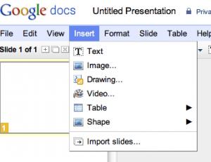 GoogleDocs Menu Tab
