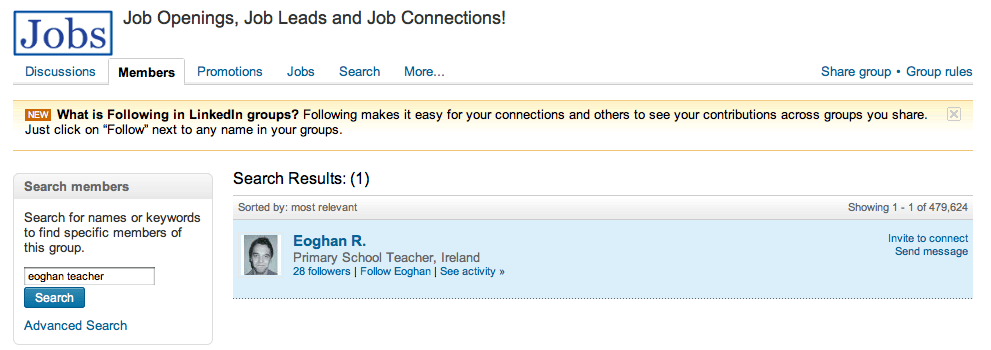 LinkedIn Group Member Send Message from within Group