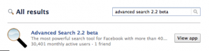 Advanced Search 2.2 Beta - Search for profiles on Facebook