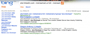 Does the inurl search operator work in Bing