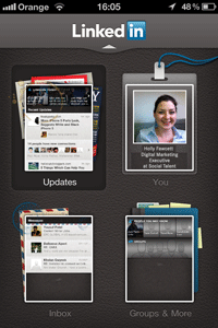 New LinkedIn App homepage screen