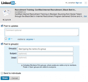Top 5 Browser Downloads for Recruiters: LinkedIn Sharing Bookmarklet