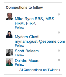 LinkedIn integration with Twitter using Tweets