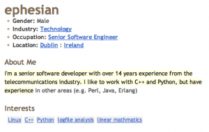 Blogger Profile Example for Software Developers