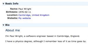 LiveJournal Profile Screenshot Software Developer