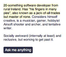 Tumblr Profile Screenshot Software Developer