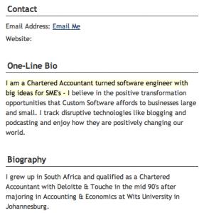 TypePad Profile Screenshot Shot