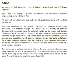 Wordpress Profile Screenshot Software Developer