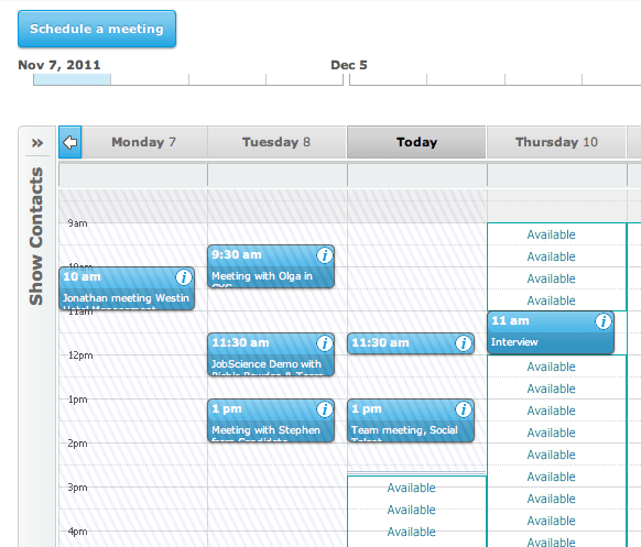 Tungle.me calendar