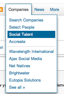 Search for your Companies in LinkedIn
