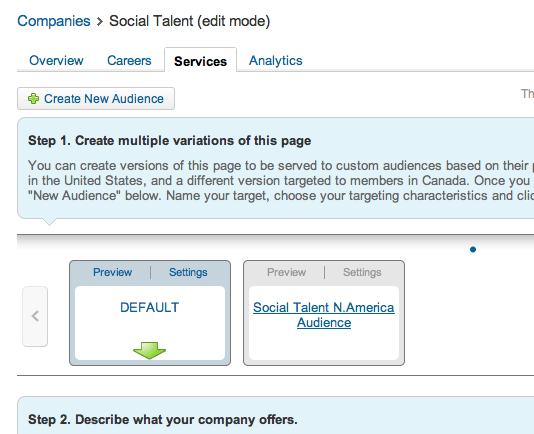 Segment your audiences in your company page in LinkedIn