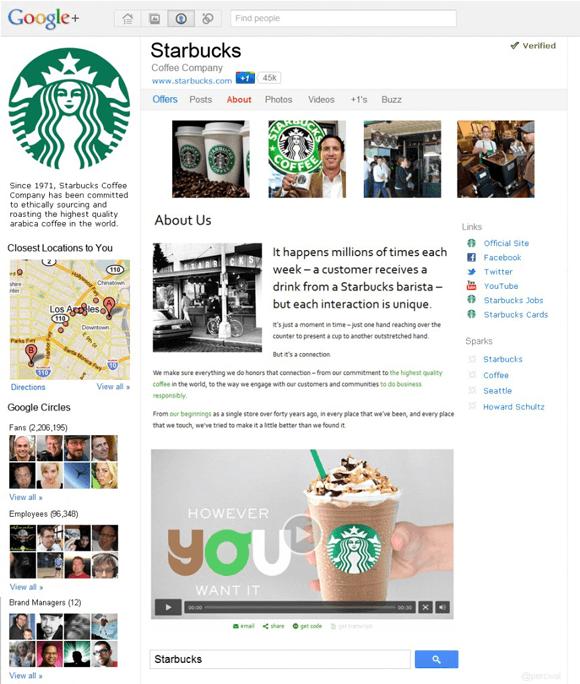 Starbucks-page-on-Google-Plus