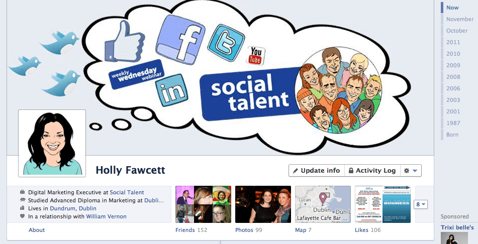 Holly's Timeline Image (including Profile Photo) - Facebook Timeline for Business Pages