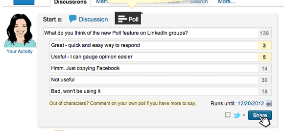 How To: Create a Poll in a LinkedIn Group - Step 3