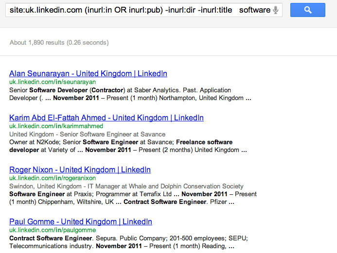 IT Contractors in the UK - Search on Google