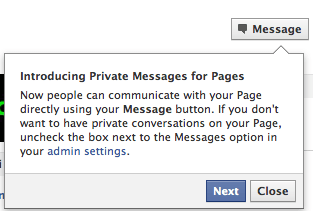 Private Messaging for Facebook Pages