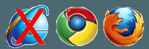 Internet Explorer Google Chrome Mozilla Firefox