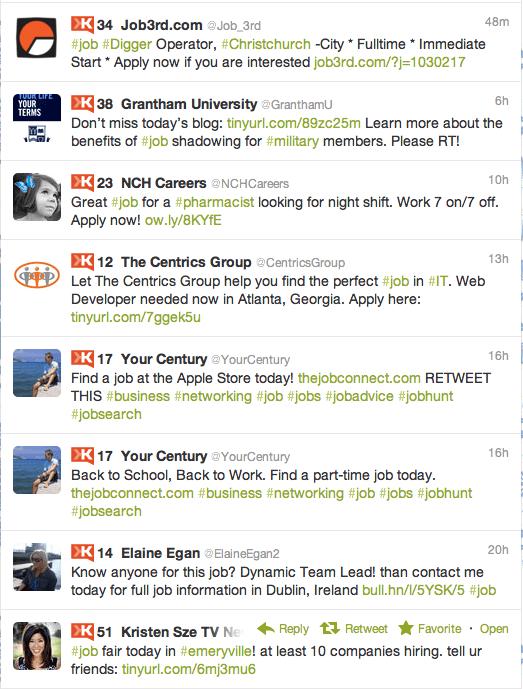 Job Tweets using Verbs and Adverbs