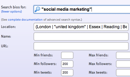 FollowerWonk - Search for Candidates on Twitter - Social Media Marketer in London