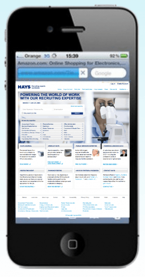 Does your recruitment website look like this on a mobile device?