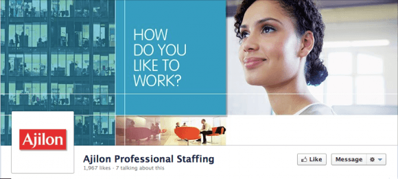 Ajilon Professional Staffing Timeline Cover