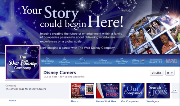 Disney Careers FB Page