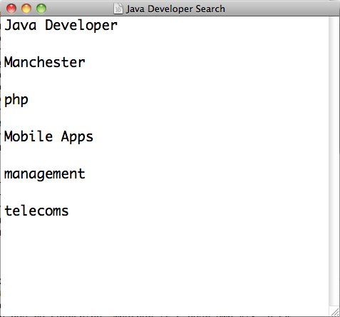 The beginnings of our search for our proverbial Java Developer