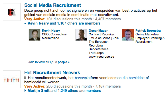 New LinkedIn Group Search - Filtering to Dutch groups