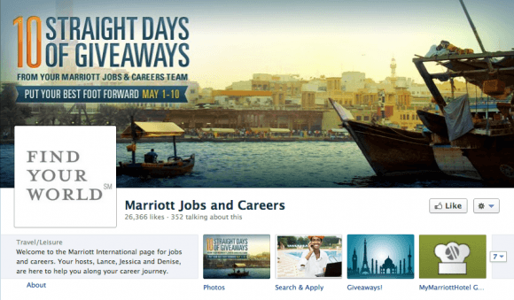 Marriott Hotels Careers FB Page