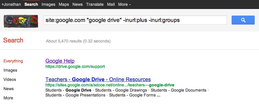 Google Drive evidence