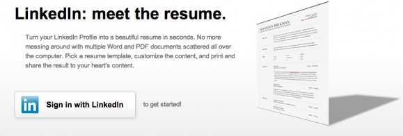 how to create a cv in 30 seconds using your linkedin profile