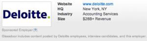 Deloitte Glassdoor Profile
