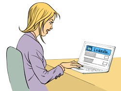 Woman-at-Laptop-with-LinkedIn-Screen-(Transparent)