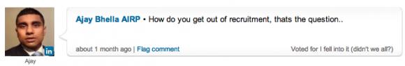 Ajay Bhella's response to the poll on Linkedin