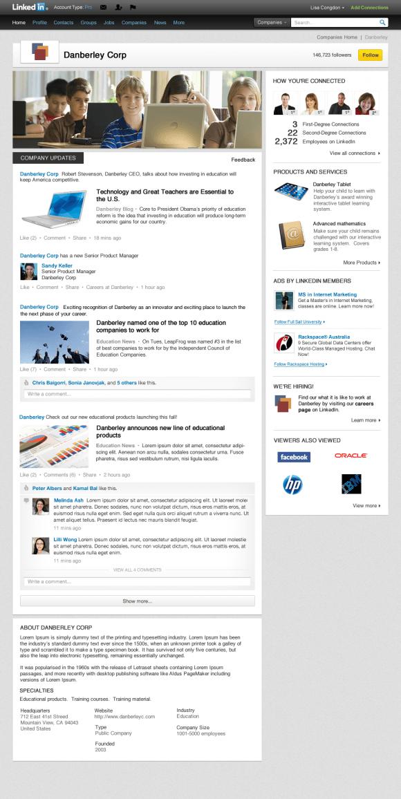 Danberly Corp LinkedIn Company Page