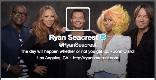 Ryan Seacrest's Twitter cover image