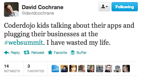 Tweet from David Cochran
