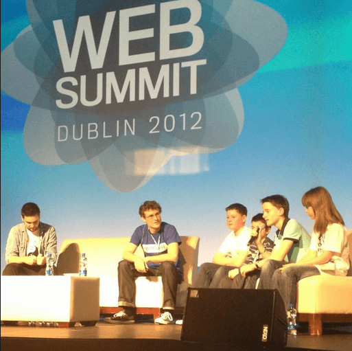 CoderDojo on stage at the Dublin #WebSummit