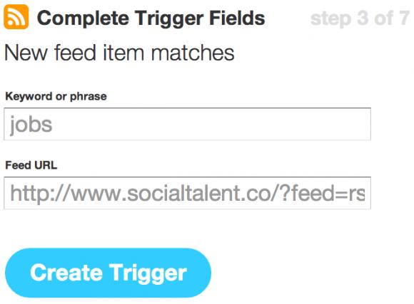 Complete Trigger Fields IFTTT