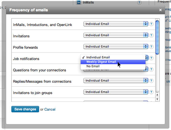 LinkedIn-Frequency-of-Emails-Settings