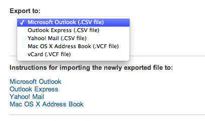 Export your connections to .CSV