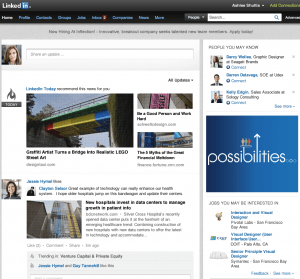 New LinkedIn Home Page 2012