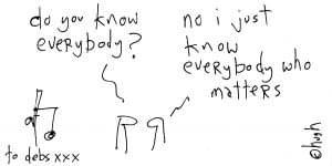 High McCleoud Cartoon Do you know everyone