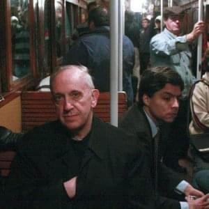Pope on bus