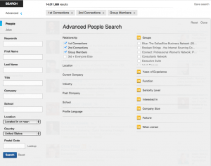 New LinkedIn Advanced Search Interface 2013