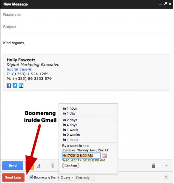 Boomerang-Screenshot