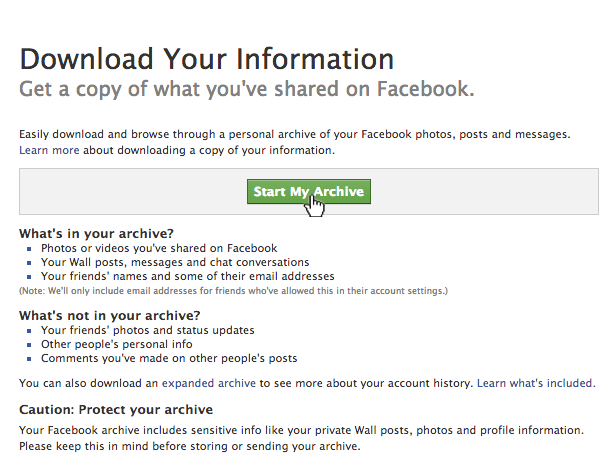 Download-Copy-of-Facebook-Data,-Start-My-Archive