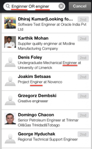 LinkedIn New Mobile App Boolean Search