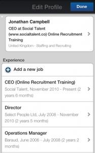 LinkedIn New Mobile App Edit Profile