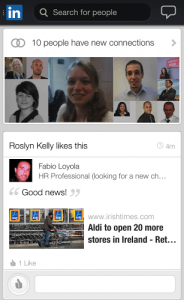 LinkedIn New Mobile App Home Screen Images